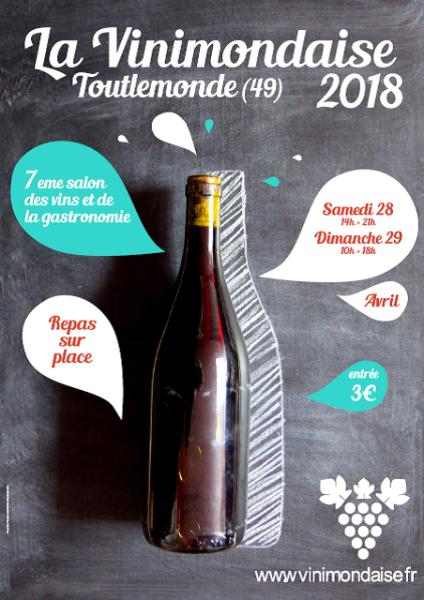 LA VINIMONDAISE : 7 ème Salon des vins et de la Gastronomie se déroulant le dernier week-end d'avril à Toutlemonde dans le Maine et Loire